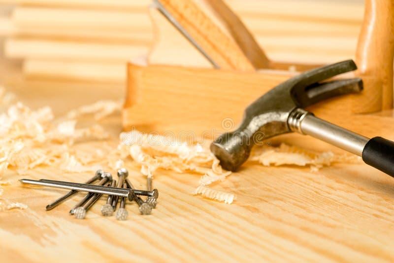 Выбор инструментов плотника стоковые фото