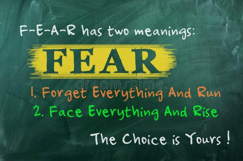 Выбор концепции страха стоковое фото rf