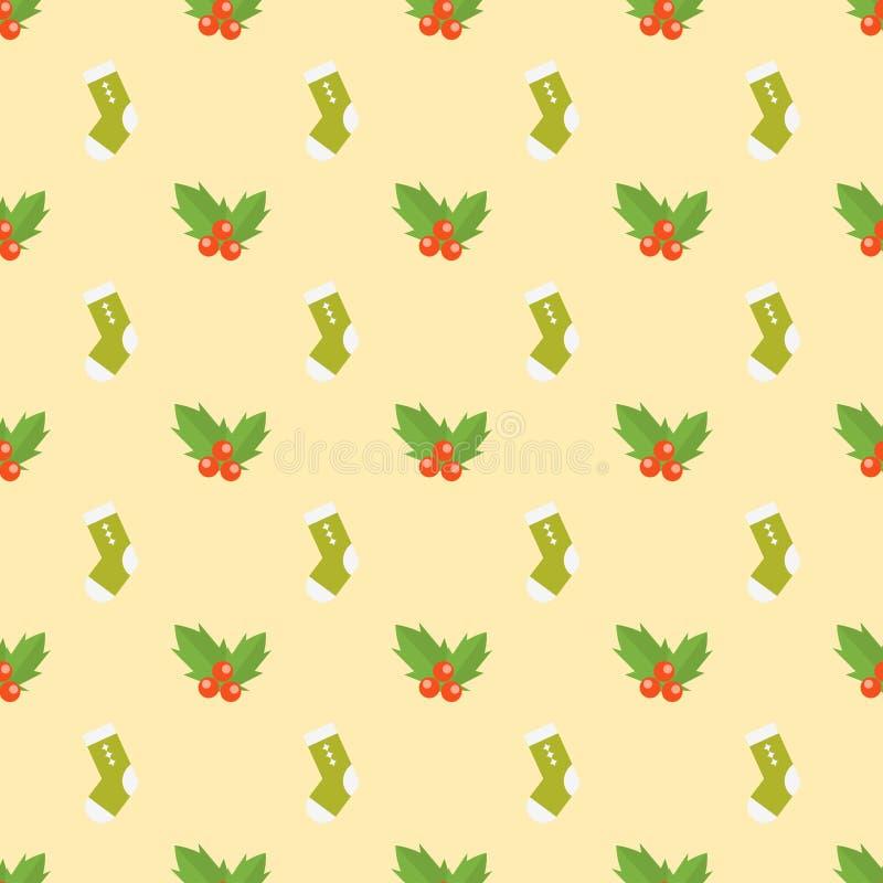 Выбор носок плоского дизайна красочный ткани ткани различной ноги теплой и милой красной зимы шерстей украшения ягод иллюстрация штока