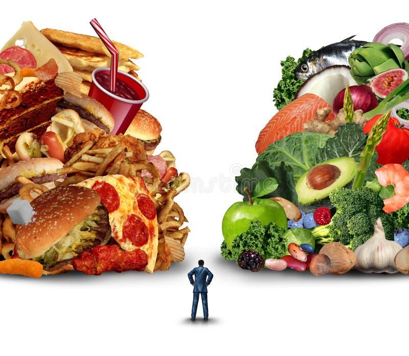 Выбор образа жизни диеты иллюстрация штока