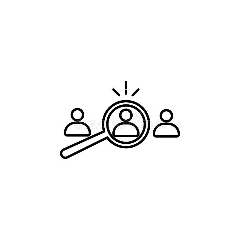 выбор соответствующего выбранного Элемент значка собеседования для приема на работу для передвижных apps концепции и сети Тонкая  бесплатная иллюстрация