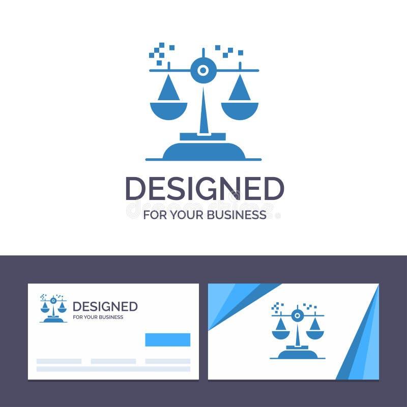 Выбор творческого шаблона визитной карточки и логотипа, заключение, суд, суждение, иллюстрация вектора закона иллюстрация штока