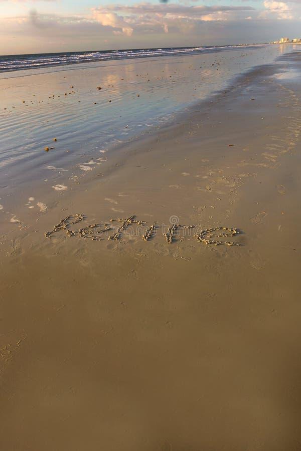Выбудьте на пляже стоковое изображение rf