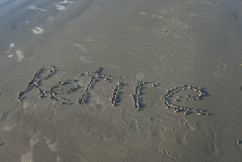 Выбудьте на пляже стоковая фотография rf