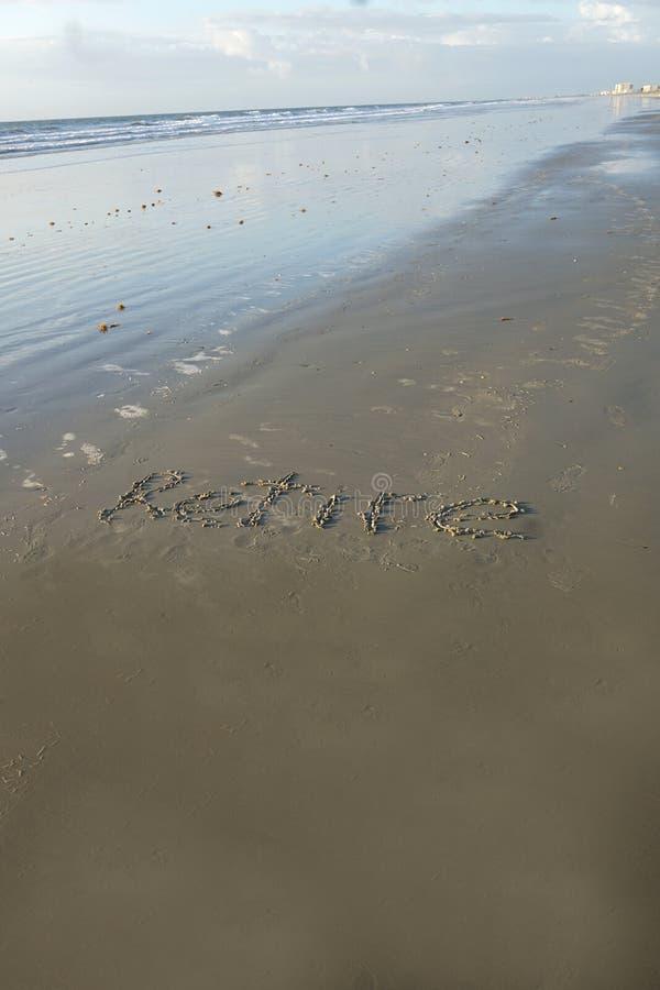 Выбудьте на пляже стоковые изображения rf