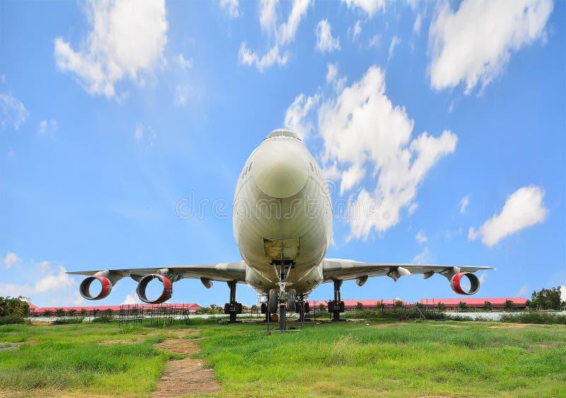 Выбытый самолет в Таиланде стоковое фото