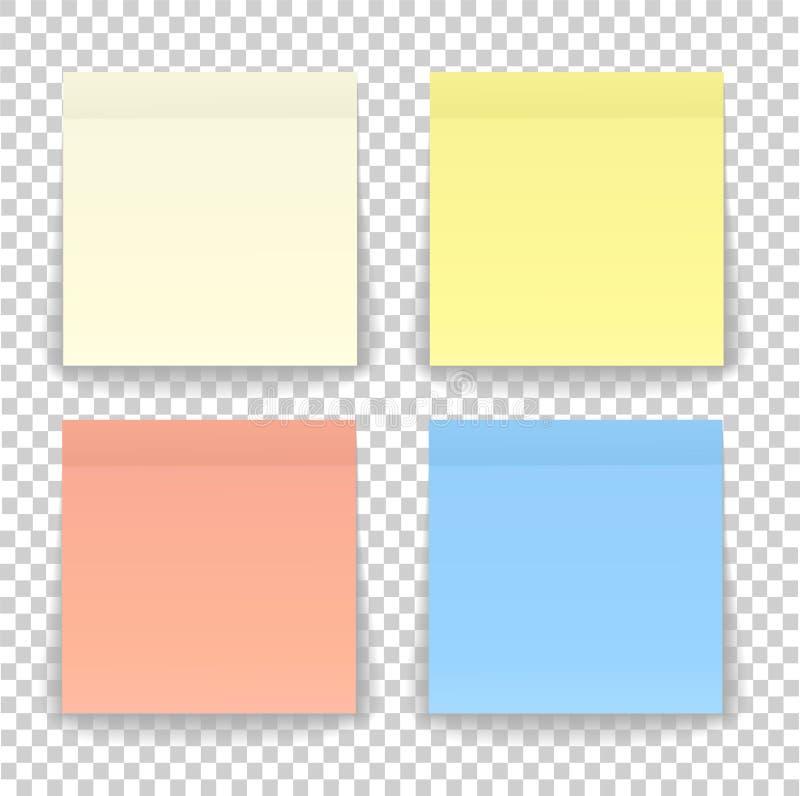 Вывесите лист бумаги примечания или липкий стикер при тень изолированная дальше бесплатная иллюстрация