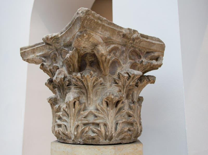 Вывесите тележку отслеживая timelapse древнего храма памятника Poseidon в накидке Sounio Афин, Греции излишне стоковое фото
