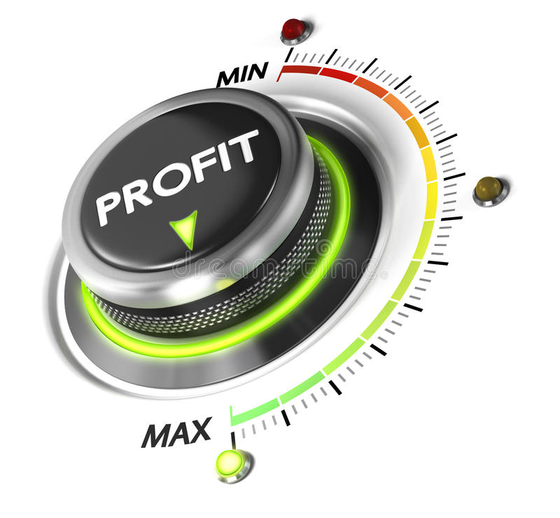 Выгода, концепция финансов иллюстрация штока