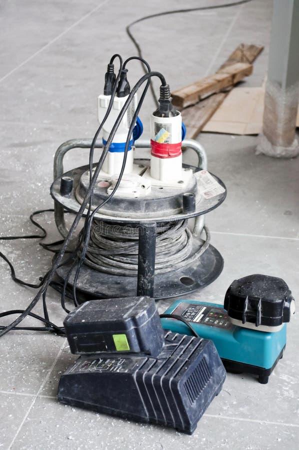 выдвижение кабеля электрическое стоковая фотография rf