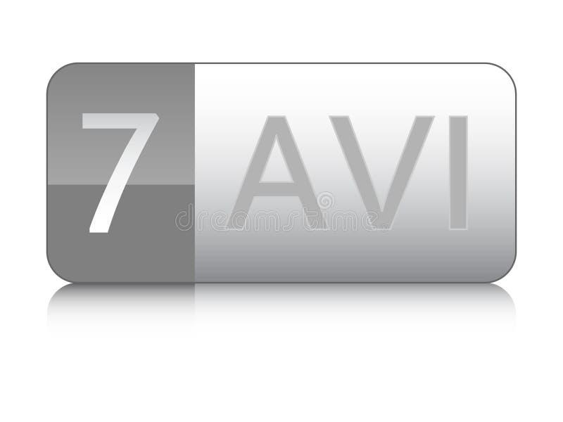 выдвижение кнопки avi иллюстрация вектора