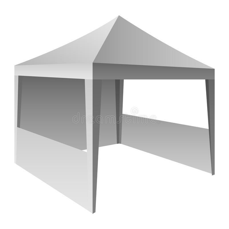 Выдвиженческий модель-макет шатра, реалистический стиль иллюстрация штока