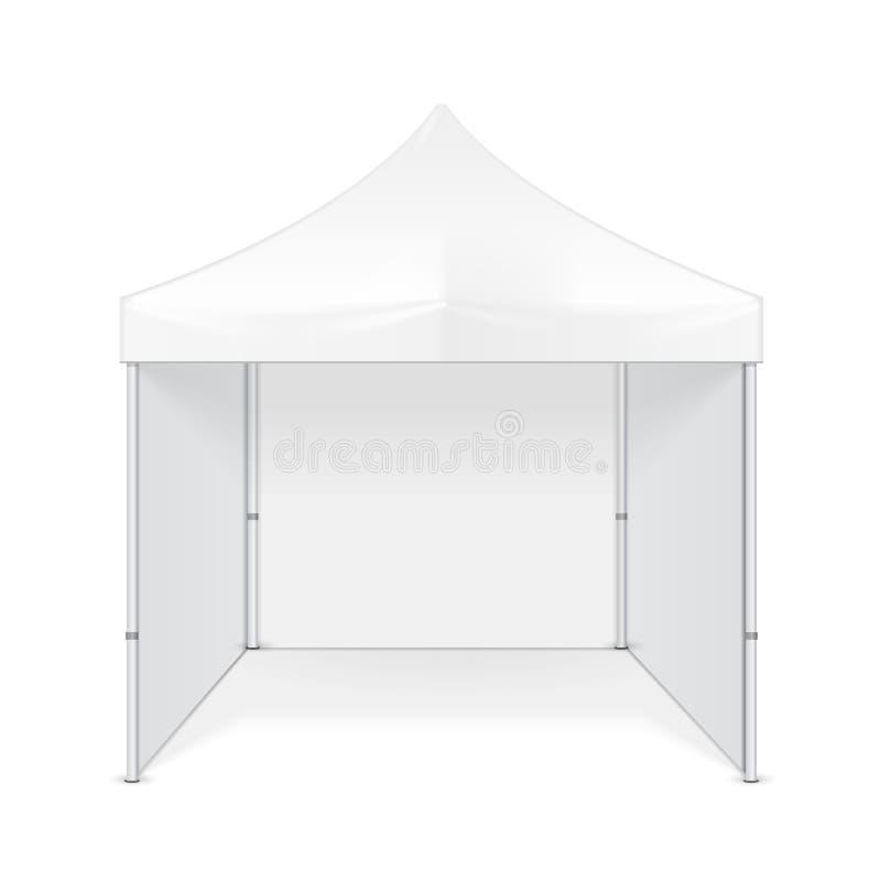 Выдвиженческий рекламируя шатер рекламы на открытом воздухе шатра торговой выставки события всплывающего мобильный Глумитесь ввер иллюстрация вектора