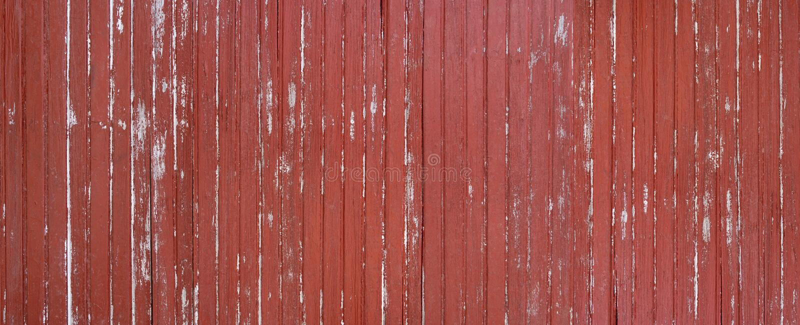 Выдержанная краснокоричневая деревянная панорама стены стоковое изображение
