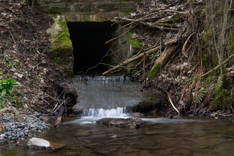 Выдержка времени реки Orke в немецком Rothaargebirge стоковые изображения rf