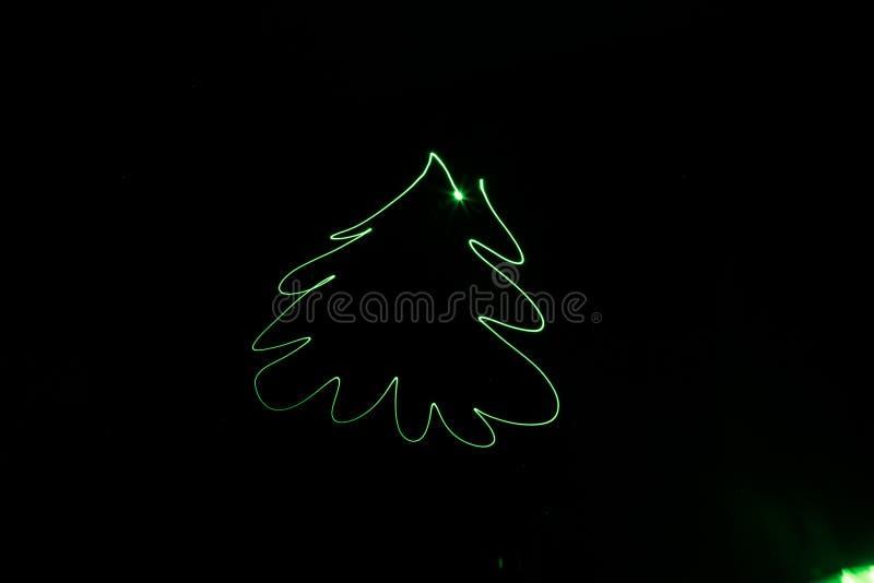 Выдержка дерева праздника зеленого цвета рождества Нового Года стоковые изображения