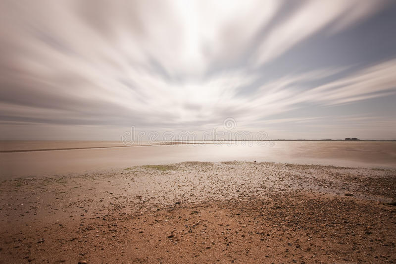 выдержка пляжа длинняя стоковое изображение rf