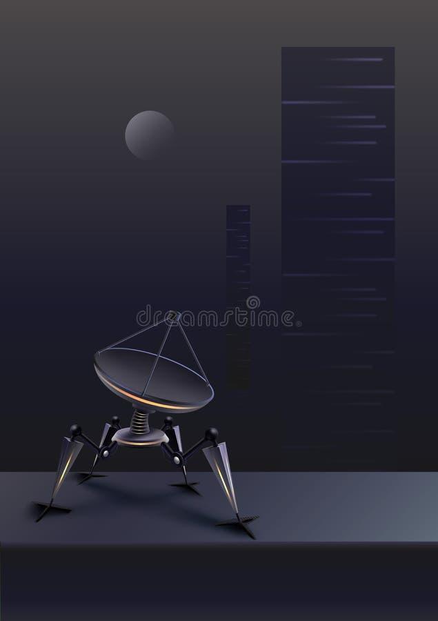 Выдуманный приемник робота иллюстрация штока