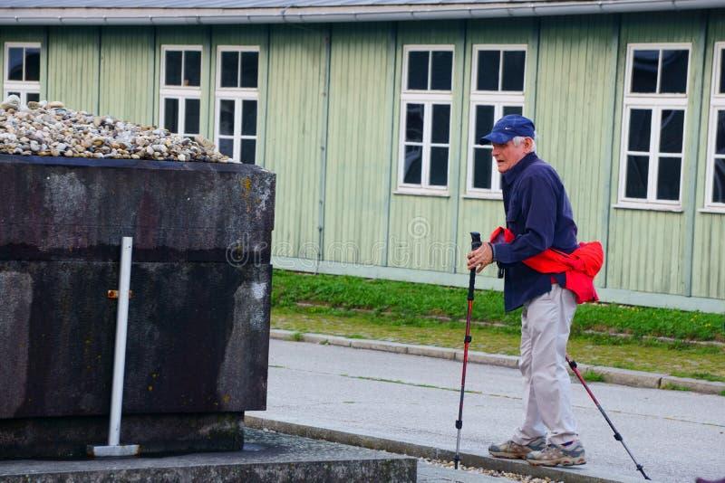 Выживший на Mauthausen стоковая фотография