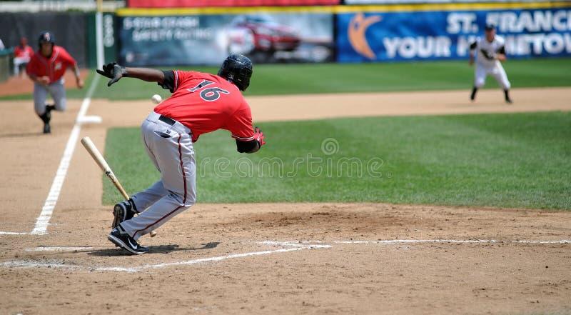 выжимка игры бейсбола стоковое фото