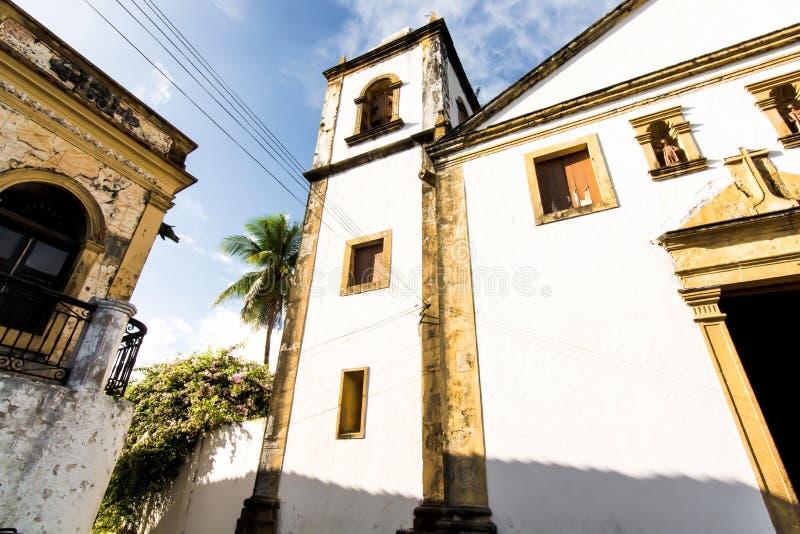 Вызванная церковь Святых Cosme и Damião, Igreja Matriz de São Cosme e São Damião стоковые фотографии rf