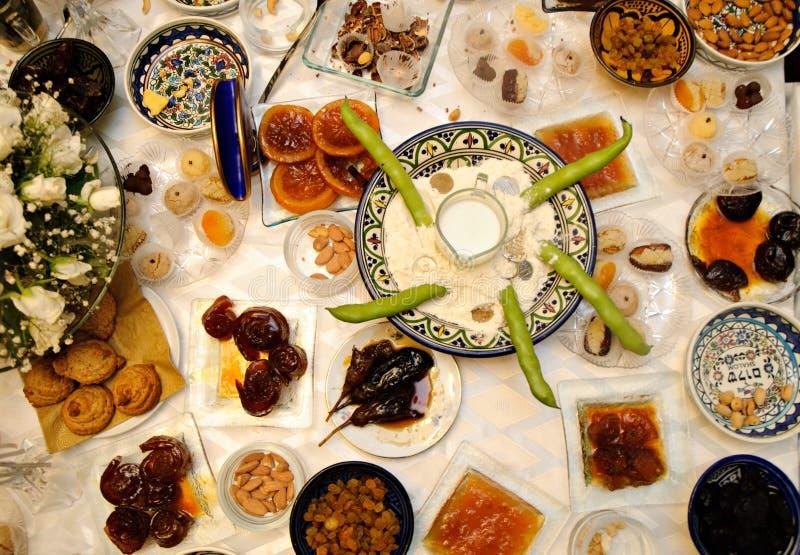 вызванное пиршество еврейское морокканское традиционное стоковая фотография rf