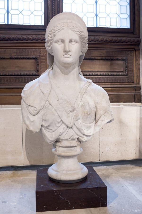Вызванный бюст женственного божества, Juno de Cranvelle Собрания Roy стоковая фотография