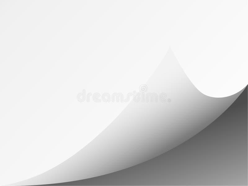 Вызовите скручиваемость с тенью на чистом листе бумаги, иллюстрация вектора
