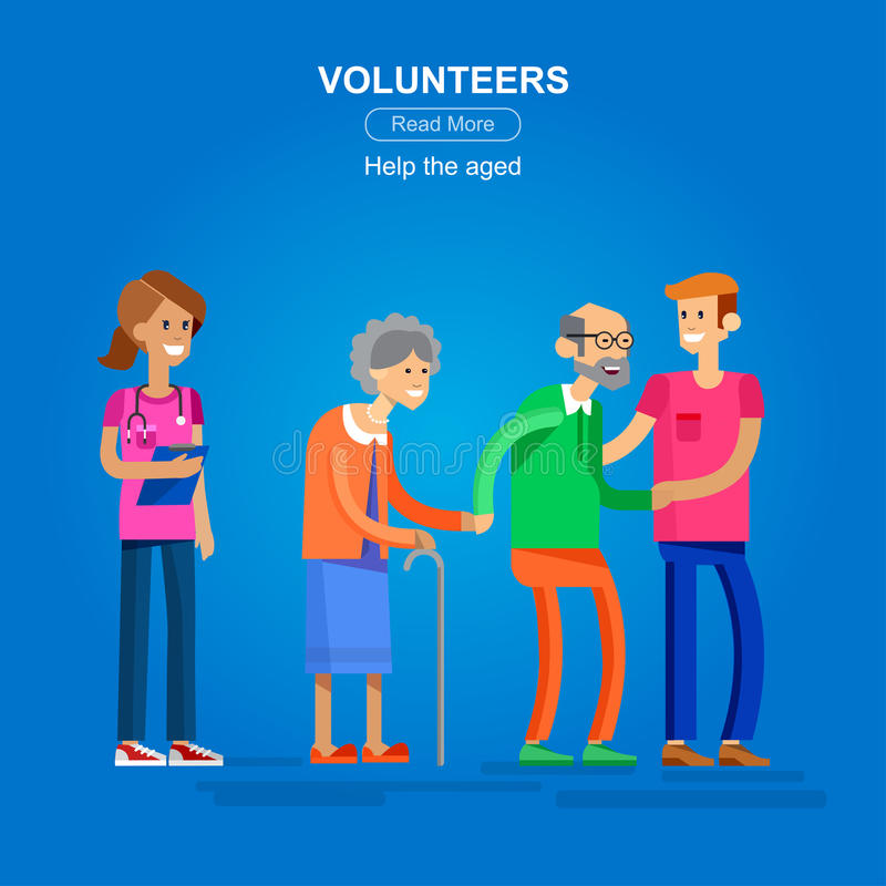 Вызывает добровольцем идея проекта иллюстрация вектора