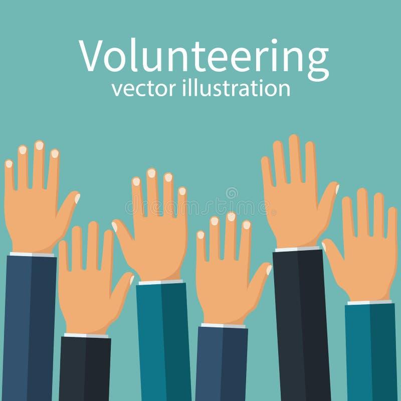 Вызываться добровольцем вектор концепции иллюстрация штока