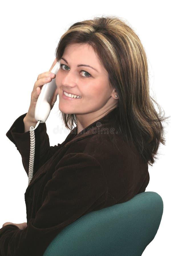 вызывать женщину стоковое изображение