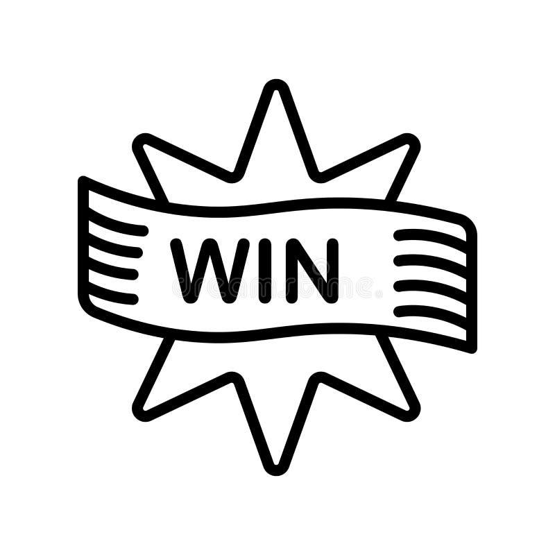 Выиграйте знак и символ вектора значка изолированные на белой предпосылке, Wi иллюстрация вектора