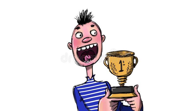 Выиграть иллюстрацию трофея иллюстрация штока