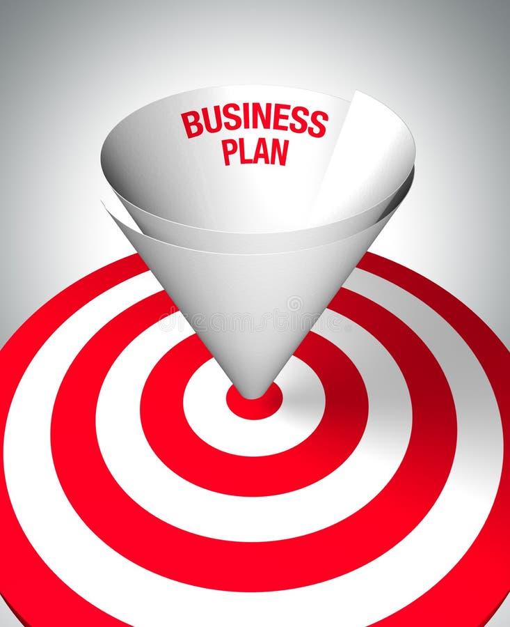 выигрывать бизнеса-плана иллюстрация штока