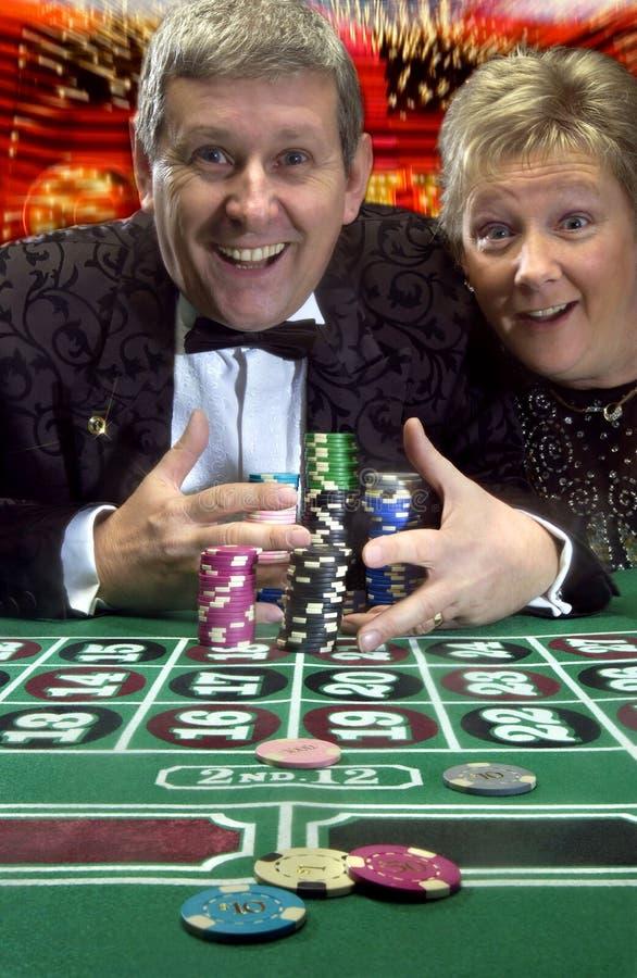 Выигрывать большой в казино стоковые изображения