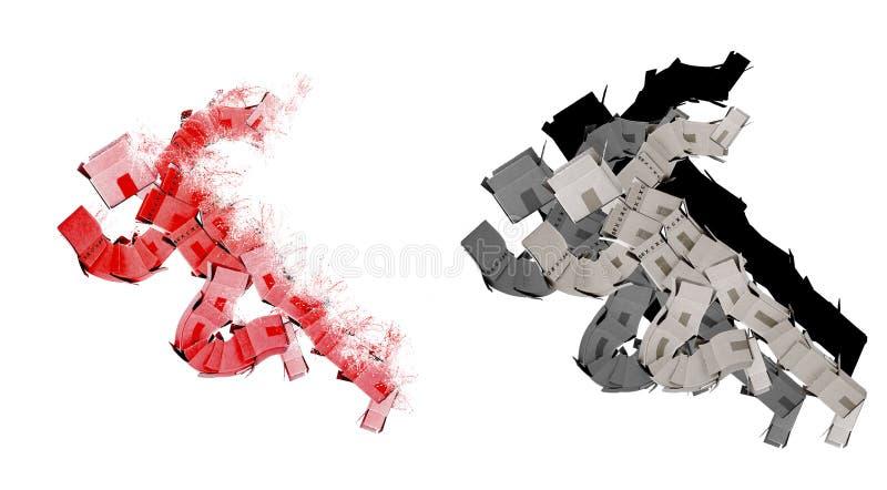 Download выигрывать гонки человека коробки Стоковое Изображение - изображение насчитывающей упаковка, боксера: 24486715