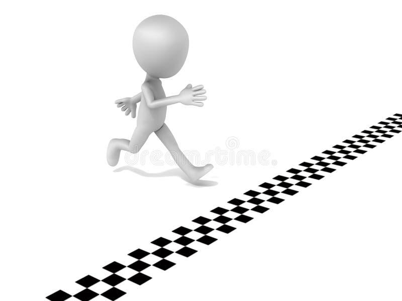 Выигрывать гонку бесплатная иллюстрация