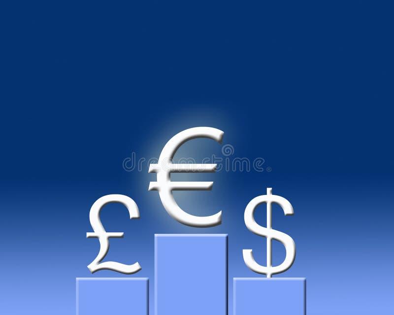 выигрывать евро иллюстрация штока