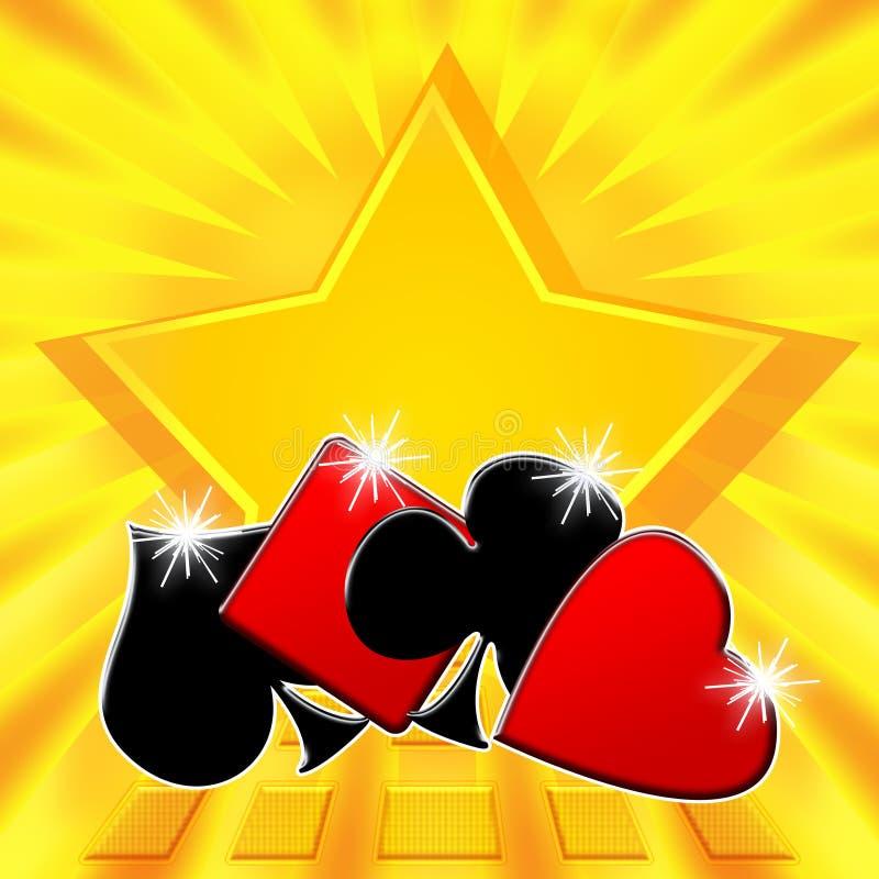 выигрывать звезды покера джэкпота иллюстрация вектора