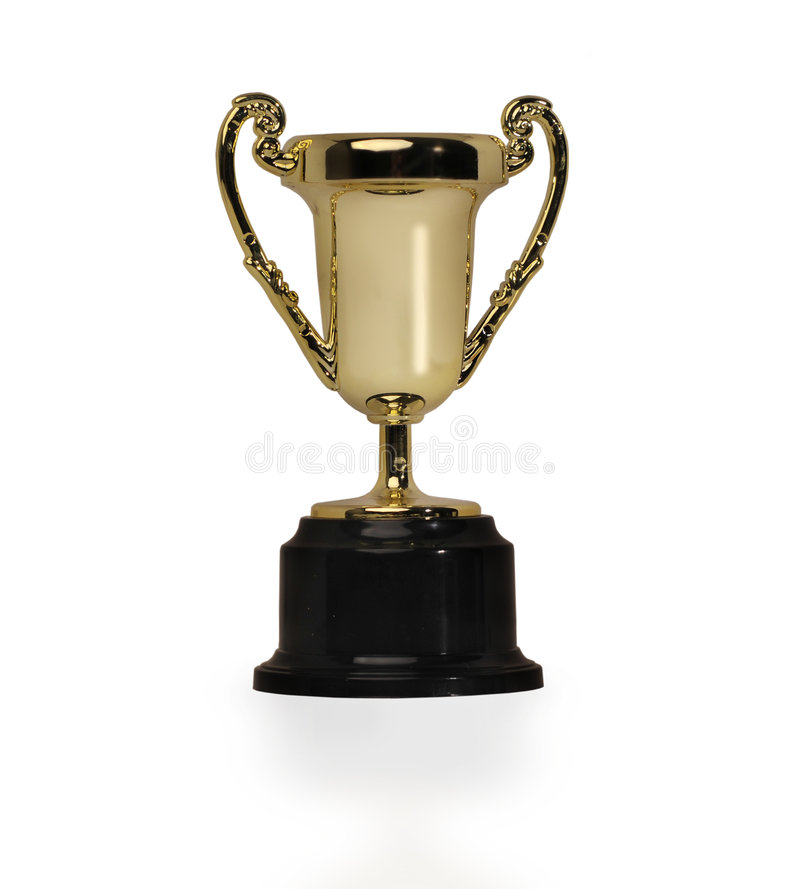 выигрывать трофея золота стоковая фотография rf