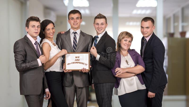 Выигрывая команда корпоративного бизнеса стоковые изображения
