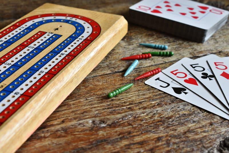 Выигрывая рука Cribbage стоковое изображение rf