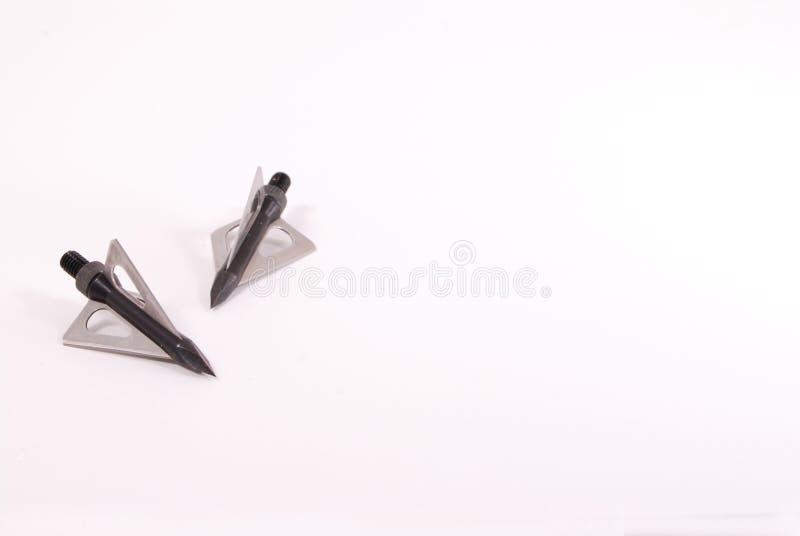 выйденные broadheads стоковое изображение