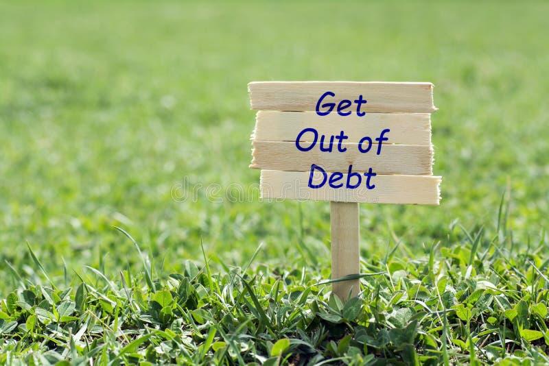Выйдите задолженности стоковое изображение rf