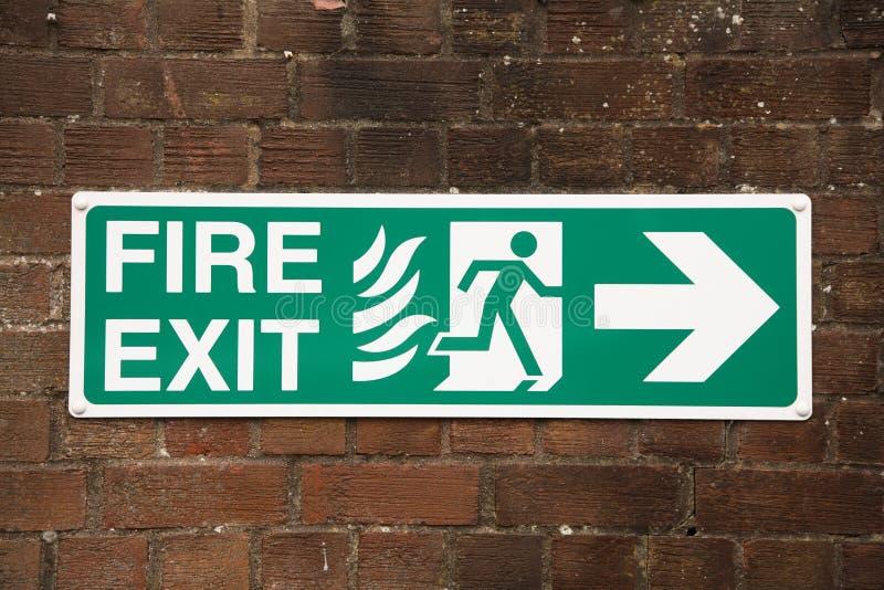 выйдите знак пожара стоковое фото rf