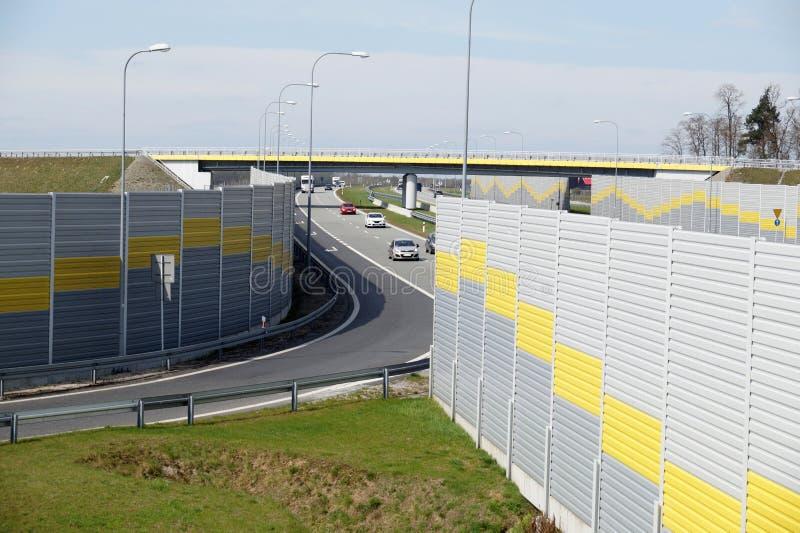 Выйдите от шоссе к зоне отдыха стоковое изображение rf