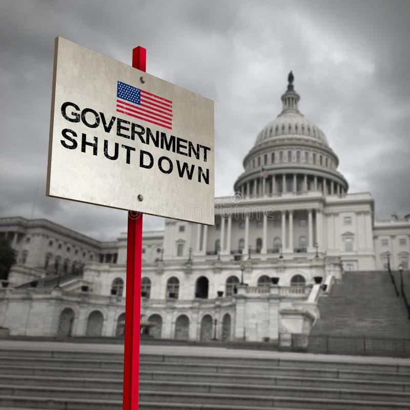 Выключение правительства Соединенных Штатов бесплатная иллюстрация