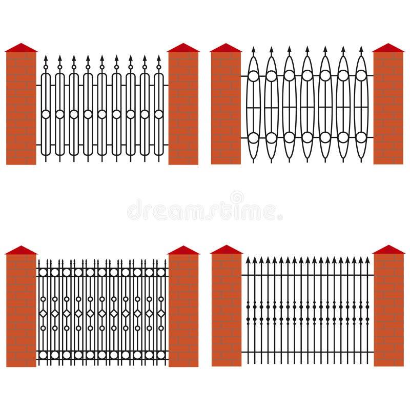 Выкованная загородка металла бесплатная иллюстрация