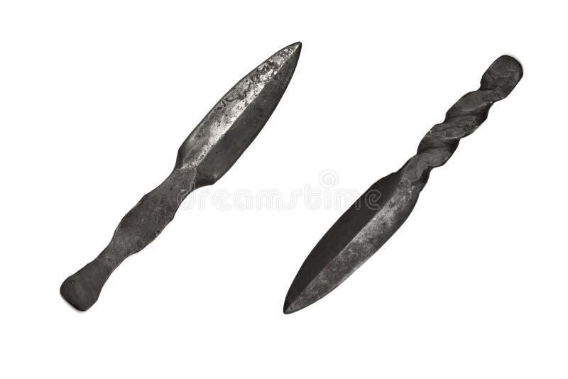 выкованные ножи руки стоковое изображение rf
