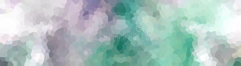 Выкристаллизовыванная бирюза пурпура знамени заголовка иллюстрация вектора